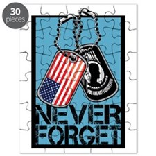 POW/MIA Never Forget Dog Tags Puzzle