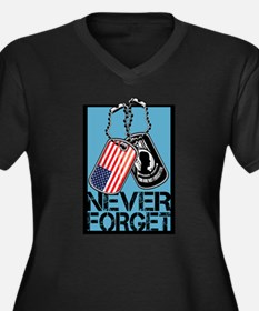 POW/MIA Never Forget Dog Tags Plus Size T-Shirt
