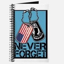 POW/MIA Never Forget Dog Tags Journal