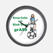 Kick grASS Wall Clock