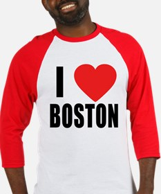 I HEART BOSTON Baseball Jersey