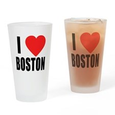 I HEART BOSTON Drinking Glass