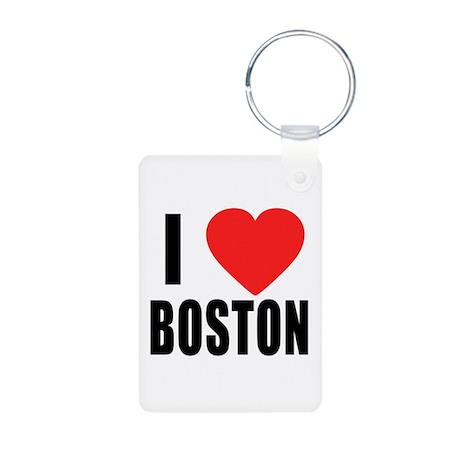 I HEART BOSTON Aluminum Photo Keychain