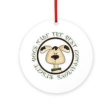 Rescue Dog Ornament (Round)