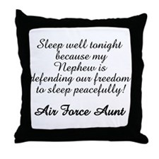 AF Aunt Nephew Sleep Well Throw Pillow