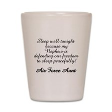 AF Aunt Nephew Sleep Well Shot Glass