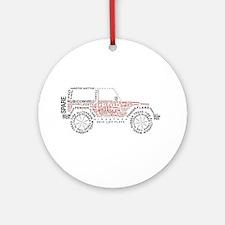 JeepWordsDesign Ornament (Round)