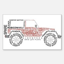 JeepWordsDesign Decal