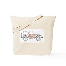 JeepWordsDesign Tote Bag