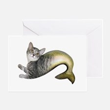 Kitten Fish Greeting Card