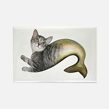 Kitten Fish Rectangle Magnet