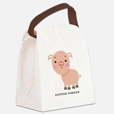 Little Piglet Canvas Lunch Bag