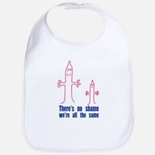 There's no shame, we are all the same design Bib