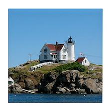 Nubble Lighthouse Tile Coaster