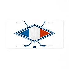 Hockey Sur Glace de Français Aluminum License Plat