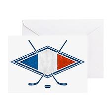 Hockey Sur Glace de Français Greeting Card