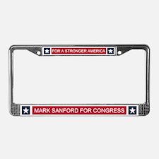 Elect Mark Sanford License Plate Frame