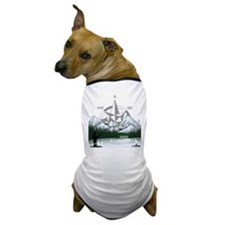 Nature Fly Fishing Dog T-Shirt