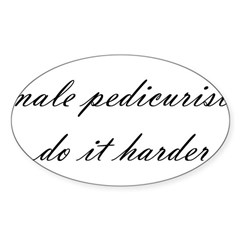 Male Pedicurist Oval Decal