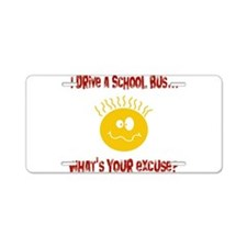 school bus driver.png Aluminum License Plate