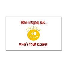 school bus driver.png Car Magnet 20 x 12