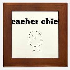 teacherchick.png Framed Tile