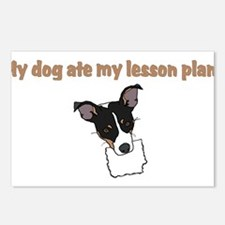 dog ate my lesson plan.png Postcards (Package of 8