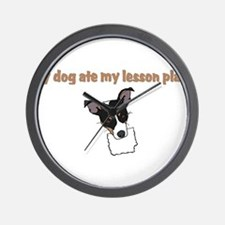dog ate my lesson plan.png Wall Clock