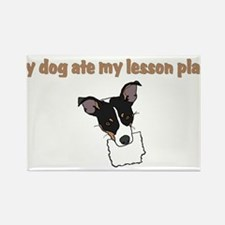 dog ate my lesson plan.png Rectangle Magnet