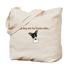 dog ate my lesson plan.png Tote Bag
