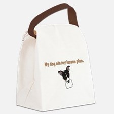 dog ate my lesson plan.png Canvas Lunch Bag