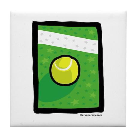 Lucky Tennis 3 Tile Coaster