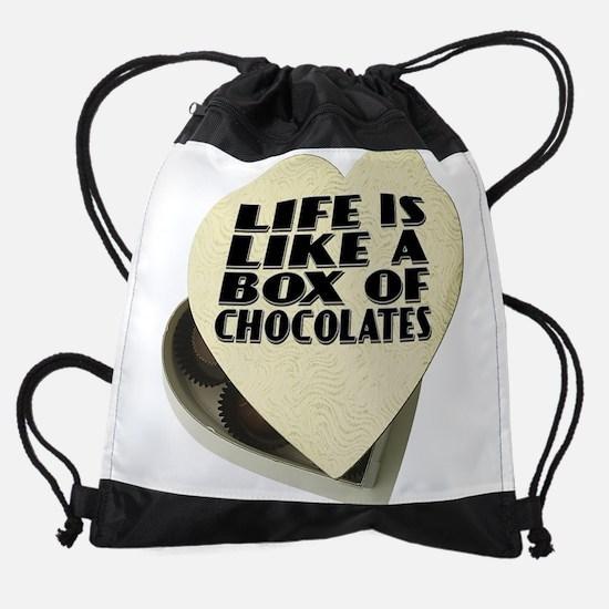 Box Of Chocolates Drawstring Bag
