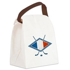 Hockey Sur Glace de Français Canvas Lunch Bag