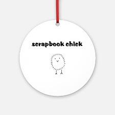 scrapbookchick.png Ornament (Round)