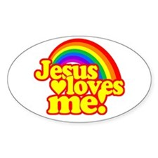 Jesus Loves Me Rainbow Decal