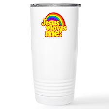 Jesus Loves Me Rainbow Travel Mug