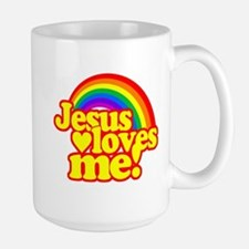 Jesus Loves Me Rainbow Mug