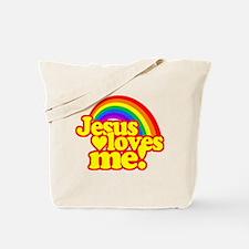 Jesus Loves Me Rainbow Tote Bag