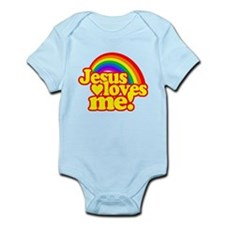 Jesus Loves Me Rainbow Body Suit
