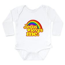Jesus Loves Me Rainbow Body Suit