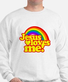 Jesus Loves Me Rainbow Sweatshirt