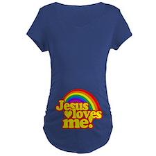 Jesus Loves Me Rainbow Maternity T-Shirt