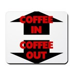 Coffee In Coffee Out Mousepad