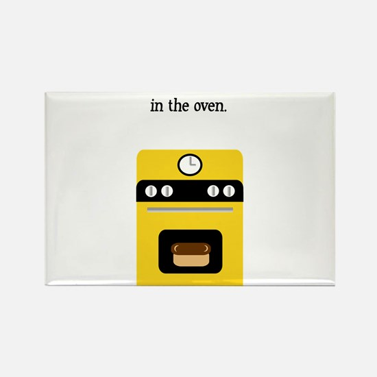 bun in the oven yellow.png Rectangle Magnet