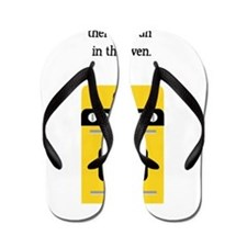 bun in the oven yellow.png Flip Flops