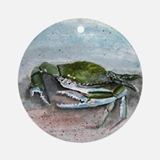 blue crab acrylic painting Ornament (Round)