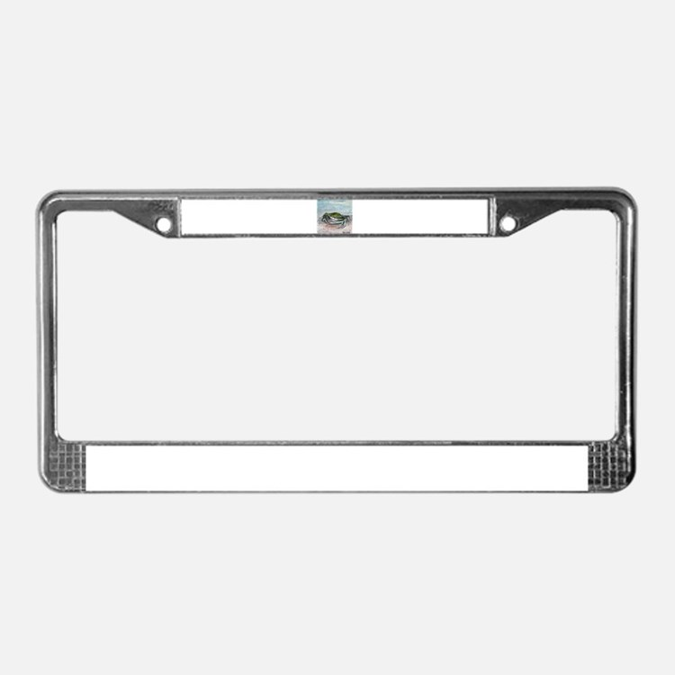 blue crab acrylic painting License Plate Frame