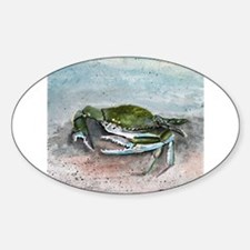 blue crab acrylic painting Decal