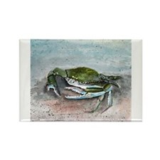 blue crab acrylic painting Rectangle Magnet